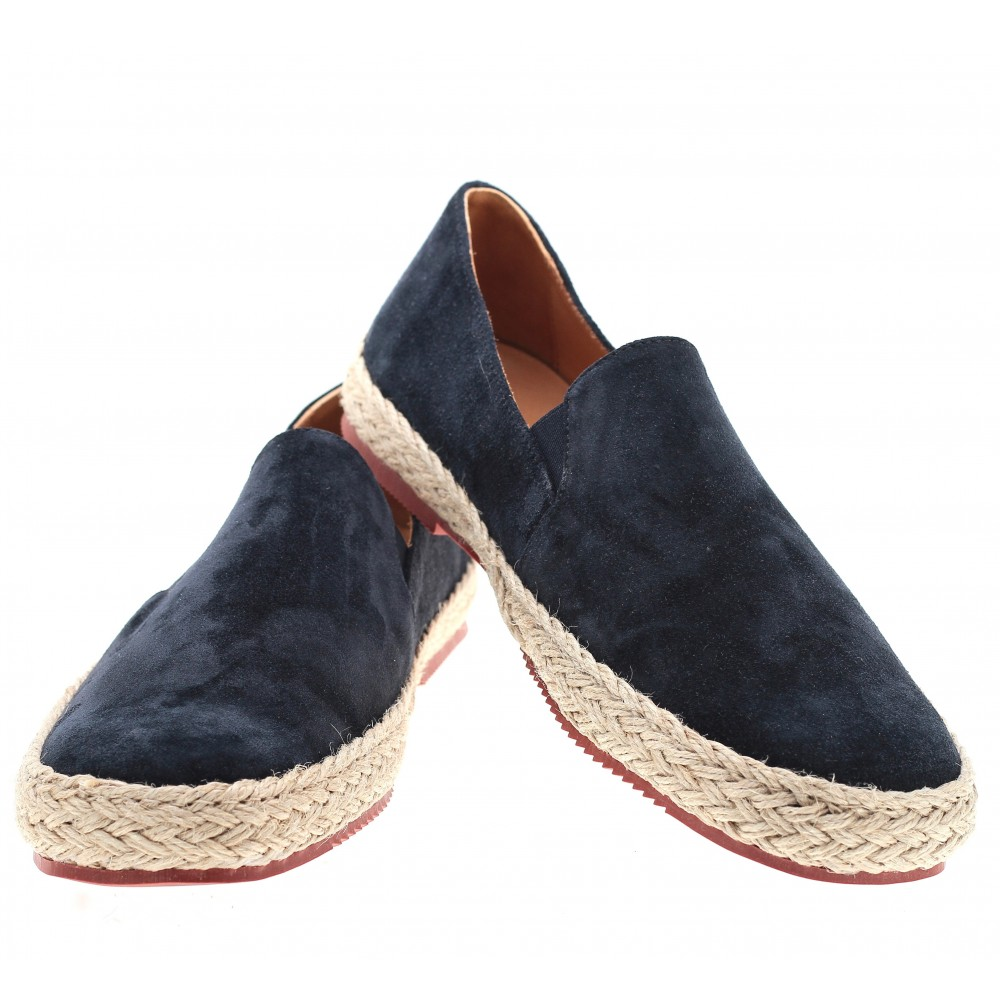 Espadrilles : Espadrilles : marine - veau velours- made in italy (Shoes)