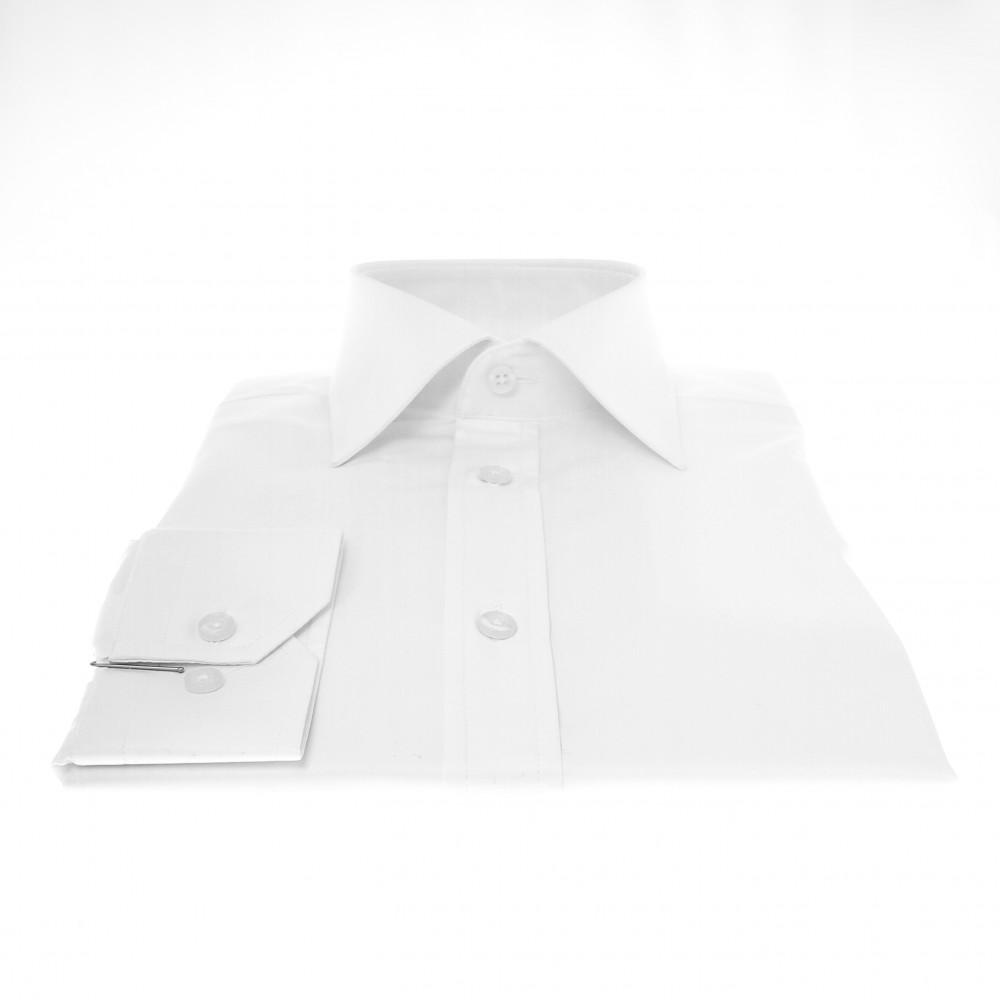 Chemise Lissandro : Blanc - Petit Col Français (Shirts)