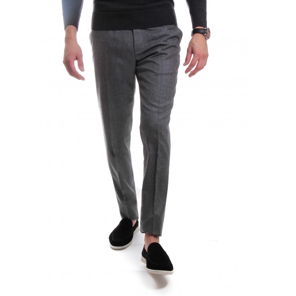Pantalon Flanelle : Gris - Pure laine vierge - Vitale Barberis Canonico