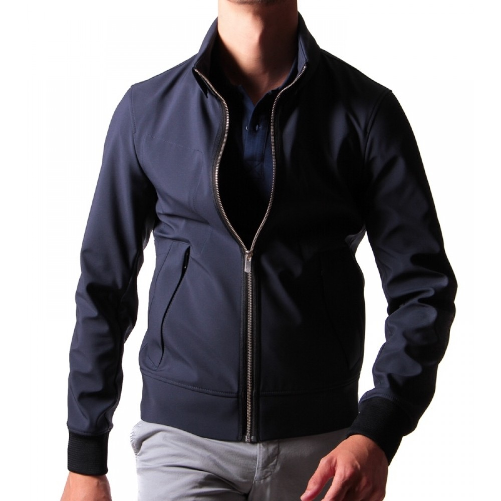 Blouson Technique : Bleu marine - Made in Italy