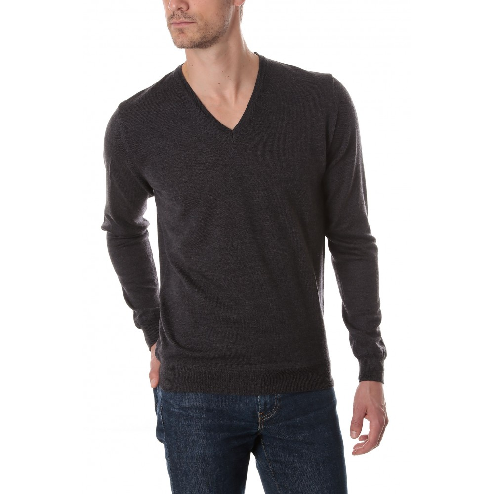 Pull col V gris anthracite danyberd