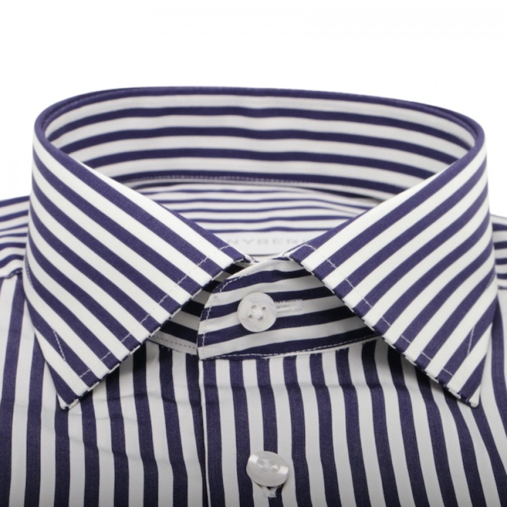 Chemise homme rayures bleues