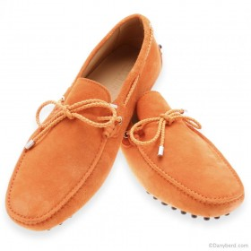 Mocassins : Mandarine - Veau Velours - Made in Italy