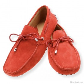 Mocassins Rouge - Veau Velours - Made in Taly