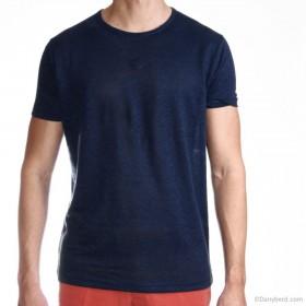 Tee-Shirt Summer : Marine - Manches courtes - Lin