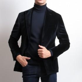Veste velours : Bleu marine - Tissu Pontoglio