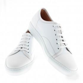 Sneakers Paris : Full white - Cuir