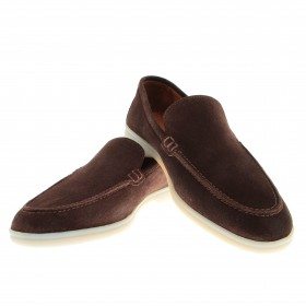 Mocassins : Marrron - Veau Velours - Made in Italy