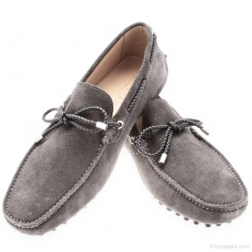 Mocassins Gris - Veau Velours - Made in Italy