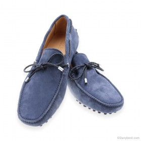 Mocassins Indaco - Veau Velours - Made in italy