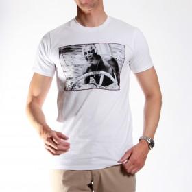 Tee-shirt Stampa  : blanc -  coton