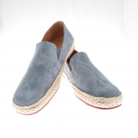Espadrilles :  Ciel - veau velours - made in italy