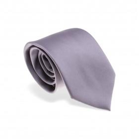 Cravate en soie :  Gris argent - Large
