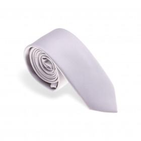 Cravate en soie : gris clair