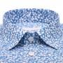 Chemise Summer : Bleue et Blanche - Slim-Cut - Petit Col Français (chemise)